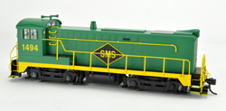 Bowser HO DS 4-4-1000 SMS Green/Yellow #1494 Ex Pennsy SC, DUE 6/1/2018, LIST PRICE $189.95