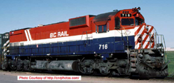 Bowser HO MLW M630 BC Rail #716 R-W-B HS rcssd nose dl, DUE 8/30/2018, LIST PRICE $209.95