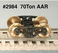 Bowser PR.70T AAR FRT TRUCKS OLD ATHEARN METAL, LIST PRICE $12.5
