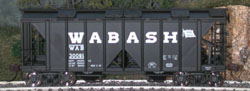 Bowser SO RTR 70 Ton Covered Hopper Wabash  Road #30093, LIST PRICE $23.95