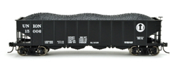 Bowser HO H21a Clamshell Hpr Union RR #15048, LIST PRICE $25.95