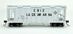 Bowser SO HO 70T 2 bay Cvrd Hpr Erie Lackawanna #21247, LIST PRICE $25.95