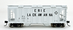 Bowser SO HO 70T 2 bay Cvrd Hpr Erie Lackawanna #21258, LIST PRICE $25.95