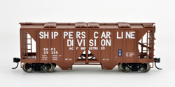 Bowser SO HO 70T 2 bay Cvrd Hpr Shippers Car Line #25321, LIST PRICE $25.95