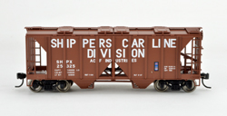Bowser SO HO 70T 2 bay Cvrd Hpr Shippers Car Line #25325, LIST PRICE $25.95
