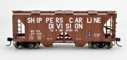 Bowser SO HO 70T 2 bay Cvrd Hpr Shippers Car Line #25330, LIST PRICE $25.95