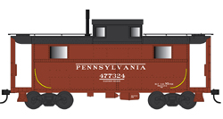 Bowser HO N5 Caboose PRR Early Lettering 477357, DUE 4/30/2020, LIST PRICE $29.95