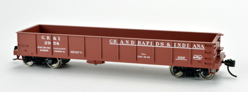Bowser HO GS 40ft Gon Grand Rapids & Indiania #2972 Blt 10-03, DUE 12/30/2020, LIST PRICE $26.95