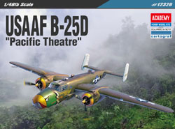 "Academy Models 1/48 B-25D ""Pacific Theater"" USAAF , DUE 6/30/2019, LIST PRICE $55"
