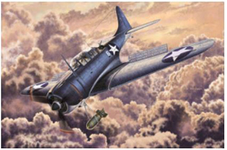 """Academy Models 1/48 SBD-2 """"Midway"""" USN with photo etched parts, DUE 5/30/2020, LIST PRICE $39"""
