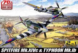 Academy Models 1/72 Spitfire & Hawker Typhoon 70th Anniv Normandy, LIST PRICE $40