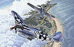 Academy Models 1/72 P-47D & FW 190A-B 70th Anniv of Normandy Inv, LIST PRICE $39