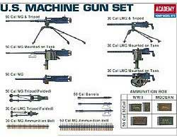 Academy Models 1/35 US WWII Machine Gun Set, LIST PRICE $16.99