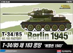Academy Models 1/35 T-34/85 Berlin 1945, LIST PRICE $61
