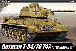 Academy Models German T-34/76 747 1:35, LIST PRICE $49