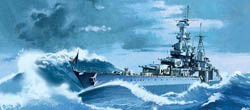 Academy Models 1/350 USS Indianapolis CA-35 new Tooling, LIST PRICE $59