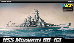 Academy Models Uss Missouri Bb-63 1:700, LIST PRICE $35