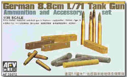 AFV Club 8.8cm L/71 AMMO W/Acces 1:35  , LIST PRICE $20.5
