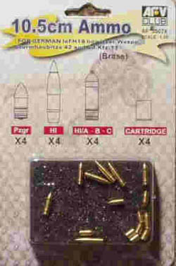 AFV Club 10.5cm AMMO for HOWITZER 1:35 , LIST PRICE $19.7