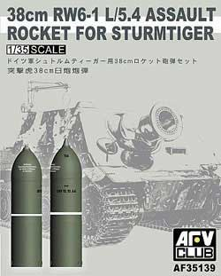 AFV Club 38cm RW6-1 1/5.4 ROCKET 1:35, LIST PRICE $13