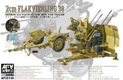 AFV Club 4X2Cm Flakvierling 38 1:35, LIST PRICE $45