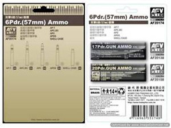 AFV Club 6Pdr 57mm AMMO 1:35, LIST PRICE $18.5