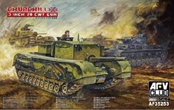 AFV Club BRIT 3'Gun CHURCHILL TANK 1:35, LIST PRICE $65
