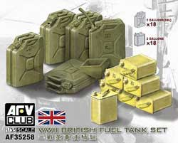 AFV Club Brit Ww-Ii Fuel Tank Set 1:35, LIST PRICE $23