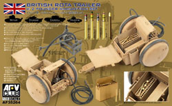 AFV Club British Rota Trailer W/2pdr, LIST PRICE $26.95