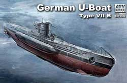 AFV Club GERMAN U-BOAT TYPE VII B 1:350, LIST PRICE $21.5