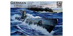 AFV Club U-BOAT TYPE VII/C 1:350 , LIST PRICE $25