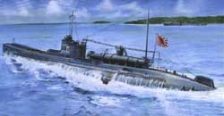 AFV Club JAPANESE NAVY SUB I-27 1:350, LIST PRICE $41.25