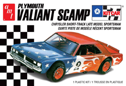 AMT 1/25 Plymouth Valiant Scamp Kit Car, 2T, DUE 9/30/2019, LIST PRICE $26.99