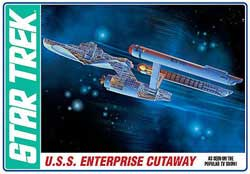 AMT STAR TREK TOS ENTERPRISE CUTAW, LIST PRICE $44.98