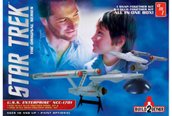 AMT STAR TREK ENTERPRISE 2pak, LIST PRICE $47.5