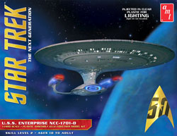 AMT Star Trek Enterprise 1701-D / Clear Edition, LIST PRICE $48.09