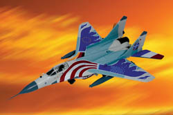 ARMOUR AIRCRAFT  MIG-29 FULCRUM FAREWELL USA'00, LIST PRICE $105
