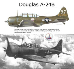 ARMOUR AIRCRAFT  A-24B DAUNTLESS AIR TRANSPORT , LIST PRICE $70