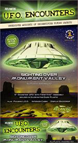 ATLANTIS MODEL Monument Valley UFO 5 Inch Lighted ( Glow in the Dark Editio, LIST PRICE $19.99