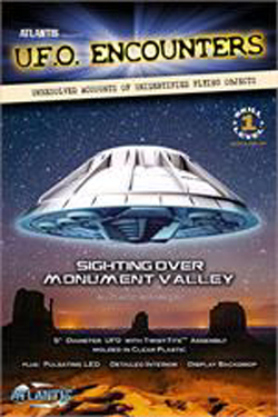 ATLANTIS MODEL Monument Valley UFO 5 Inch Lighted (Clear Edition), LIST PRICE $19.99
