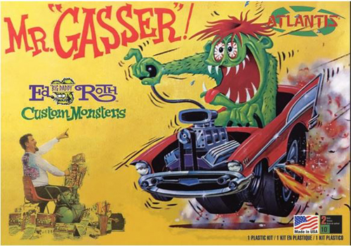 ATLANTIS MODEL 1/25 Ed Roth Mr. Gasser, DUE 6/30/2018, LIST PRICE $21.99