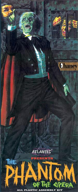 ATLANTIS MODEL 1/8 Lon Chaney Phantom of The Opera, DUE 3/30/2018, LIST PRICE $34.99