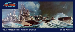 ATLANTIS MODEL 1/480 USS Pittsburgh CA-72 Heavy Cruiser, DUE 3/30/2018, LIST PRICE $21.99