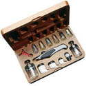 Aztec Airbrushes AIRBRUSH SET DBL ACTION W/WOOD, LIST PRICE $279.99
