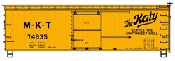 Accurail HO 36ft Double Sheath Wood Box MKT, LIST PRICE $17.98