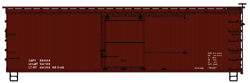 Accurail HO 36' DS Wood Boxcars 1940's Style Data Red Wood Ends, LIST PRICE $17.98