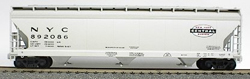 Accurail HO ACF 3-Bay Covered Hopper, NYC, LIST PRICE $19.98