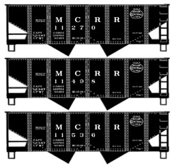 Accurail HO 2Bay Hopper MC/NYC 3 Pack, LIST PRICE $46.98