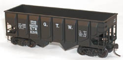 Accurail HO KIT 55-Ton Panel Side Twin Hopper, GTW, LIST PRICE $15.98