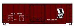 Accurail HO 40' Insulated Steel Boxcar Pacific Great Eastern, DUE 3/30/2020, LIST PRICE $18.98